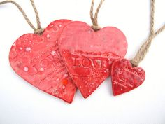 Red+hearts+home+decor+Wedding+favours+love+by+damsontreepottery,+£18.00