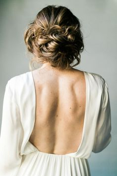 A tousled updo perfect for your big day, or any day.