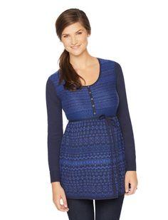 686b46f0d1de0 navy babydoll fair isle maternity tunic by Motherhood Maternity | Pregnancy  Wishlist Maternity Sweater, Maternity