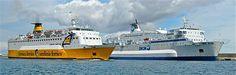 Le Sardinia Vera (Corsica Ferries) et le Corse (SNCM) à Bastia.