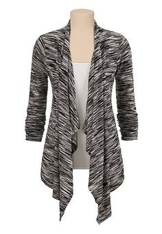 Black and white striped lightweight cardiwrap (original price, $29) available at #Maurices