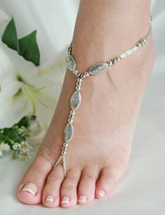 Beaded Barefoot Sandals Beach Wedding Foot Jewelry Wear with or without shoes, from casual to dressy, from brides on the beach, to beach . Jeweled Sandals, Beaded Sandals, Bridal Shoes, Wedding Shoes, Bridal Sandals, Footless Sandals, Isadora Duncan, Slave Bracelet, Body Jewellery