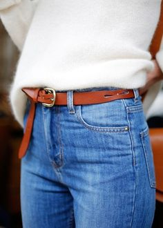 Belt with jeans