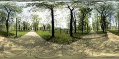Panoramatická fotografie z parku v Hranicích