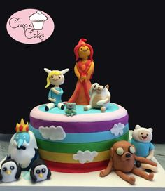 Adventure Time Cake. #AdventureTime #CakeDesign #CoupleCakes