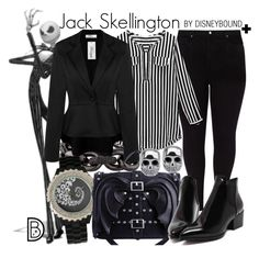 """Jack Skellington +"" by leslieakay ❤ liked on Polyvore featuring Studio 8, Eddie Borgo, women's clothing, women, female, woman, misses, juniors, disney and disneybound"