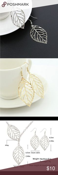 Silver or gold plated leaf earrings pick any additional jewelry on my closet for just $5 more, let me know so I can set up a bundle of $15! If you have any questions leave me a comment! ❤️ Jewelry Earrings