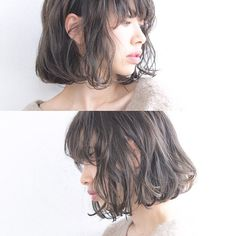 Hair Style Idea Medium Short Hair, Medium Hair Styles, Short Hair Styles, Short Bob Hairstyles, Pretty Hairstyles, Cut Her Hair, Hair Cuts, Bob Haircut With Bangs, Japanese Hairstyle