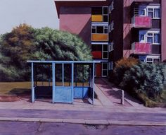 Scenes from the Passion: Bus Stop at the Top by George Shaw    I so wanted him to win the Turner Prize. He would have been a daring choice BECAUSE he's a painter, not in spite of it.