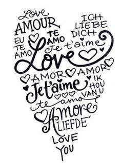 no importa el idioma.....el amor siempre tendra el mismo significado si lo damos de todo corazon