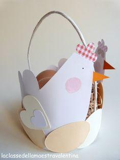 La classe della maestra Valentina: GALLINELLE PORTA OVETTI chicken eatser basket craft