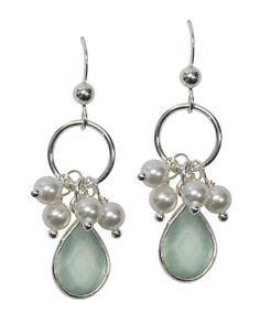 06d1004bb516c9 Becca Aqua Chalcedony Silver Earrings Coral Earrings, Red Coral, Aqua,  Becca, Bead