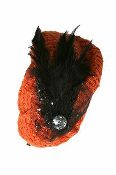 Crochet Stone Headband 1 -Orange