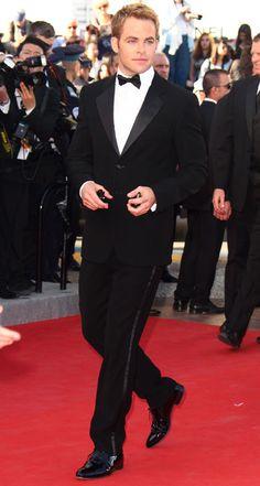 Best Dressed Men Cannes 2012 - Chris Pine in a tuxedo!