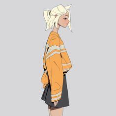 Sam's Sketchies — 55. Dva 56. Mercy 57. Tracer Overwatch fashion...