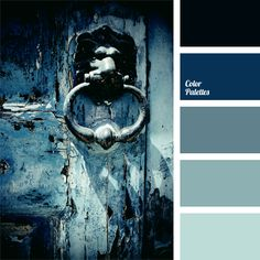 Monochrome palette of dark blue shades. This is the classic solution for a business suit, spring and autumn clothes. This palette can be used to design a study or reception.