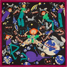 77b5e7e8e869 Un Week-End dans l Espace Vintage silk scarf in silk x 70 cm) Designed by  Saw Keng Fall 2015