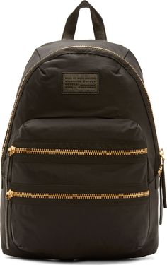 Marc by Marc Jacobs Black Nylon Arigato Packrat Backpack