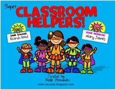 Super Classroom Helper Chart