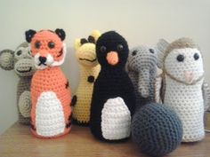 Crochet Fanatic: ANIMALS' BOWLING SET Grátis, inglês / Free pattern, English