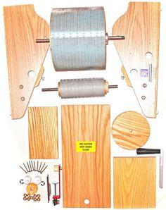 STRAUCH PETITE KIT drum carder for blending fluffy fine wool batts HOORAY plus free fiber