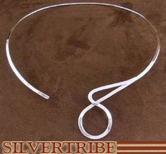 Southwest Jewelry Genuine Sterling Silver Neck Collar Necklace NS49500