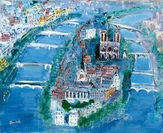 A wonderful painting of Paris by Raoul Dufy.