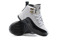 b12e82079c4e14 Youth Basketball Shoes 2018 2018 Really Cheap Air Jordan 12 Kids Boys Taxi  White Black