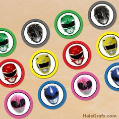 FREE Printable Power Rangers Cupcake Toppers Power Rangers Dino, Gateau Power Rangers, Power Rangers Birthday Cake, Mighty Power Rangers, Pawer Rangers, Power Ranger Cake Toppers, Power Ranger Cupcakes, Power Ranger Party, 4th Birthday Parties