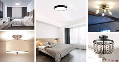 28 Bedroom Ceiling Lights to Brighten Up Your Room in a Charming Way 💡😍 Gold Bedroom, Bedroom Lamps, Bedroom Lighting, Living Room Bedroom, Modern Bedroom, Star Lights On Ceiling, Modern Led Ceiling Lights, Furniture Depot, Home Furniture