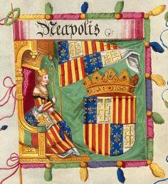 Neapolis flag (image 55), Triunfo del Emperador Maximiliano I, Rey de Hungría, Dalmacia y Croacia, Archiduque de Austria :... de quien están descritas y colocadas en esta colección las acciones gloriosas de S.M. Imperial, durante su vida..., entre 1501 y 1700? (©Biblioteca Nacional de España) Nautical Flags, Coat Of Arms, Book Binding, Middle Ages, Austria, Maya, Stained Glass, Medieval, Banner