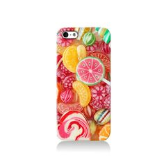 Sweets Mixture case is available for iPhone 4/4S, iPhone 5/5s, iPhone 5c and new iPhone 6. The picture shows the design on an iPhone 5/5s case