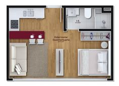 Home design small apartments studio layout 27 Ideas Small Apartment Layout, Studio Apartment Layout, Studio Layout, Small Apartments, Small Spaces, Apartment Ideas, Small Apartment Plans, Layouts Casa, House Layouts