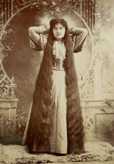 Queen of hair of the 19th century