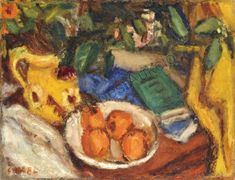 Still life with fruits Still Life Fruit, Painting, Artists, Fall Living Room, Exhibitions, Big Cats, Painting Art, Paintings, Painted Canvas