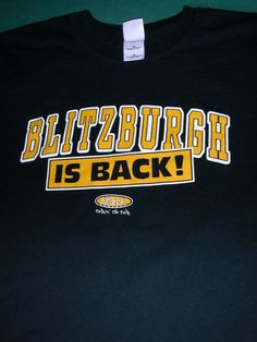 d95a10ecf VINTAGE Steelers 1994 Blitzburgh IS BACK T Shirt XL PITTSBURGH SMACK APPAREL