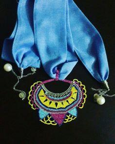 Crochet Necklace, Hats, Jewelry, Jewlery, Hat, Jewerly, Schmuck, Jewels, Jewelery