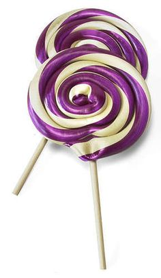 purple lollipops