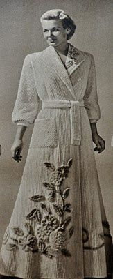 I love this picture of a vintage chenille robe. They just don't make them like they used to ;)