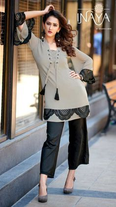 On Booking Buy studio libas inaya colorful fancy collection of outfits at Wholesale Price. Stylish Dresses For Girls, Stylish Dress Designs, Casual Dresses, Fashion Dresses, Kurta Designs, Kurti Designs Party Wear, Simple Pakistani Dresses, Pakistani Dress Design, Pakistani Outfits