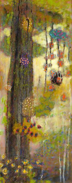 "Backwood Fusionoil on canvas | 48 x 19"" | 2015Rick Stevens Art"