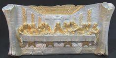 Ateliê Le Mimo: RELIGIOSO  Placa de mesa Santa Ceia Peça em gesso
