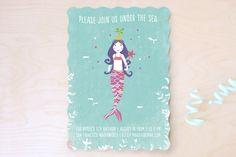 La Mermaid Children's Birthday Party Invitations...   Minted