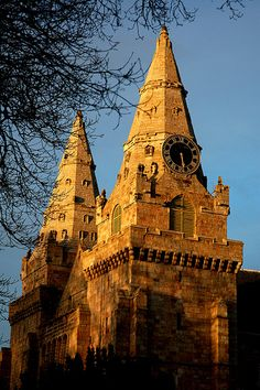 St Machar Cathedral at sunset, Old Aberdeen, Scotland