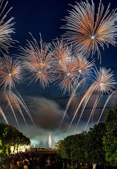 Fireworks over Versailles: swoon.
