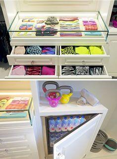 Khloe Kardashian Bedroom, Khloe Kardashian Workout, Dressing Room Closet, Dressing Room Design, Home Organisation, Closet Organization, Gym Room At Home, Celebrity Closets, Celebrity Style