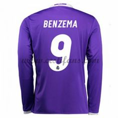 Real Madrid Fotbalové Dresy 2016-17 Benzema 9 Venkovní Dres Dlouhým Rukávem