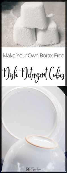 Making my own cleaning supplies allows me to save money and use ingredients that aren't harsh. Check out my 5 Ingredient Borax-Free Dish Detergent Cubes here!