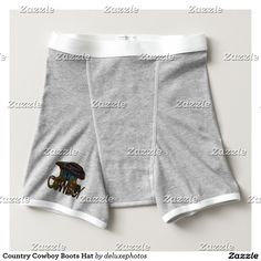 Country Cowboy Boots Hat Boxer Brief