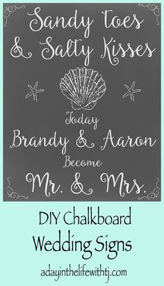 DIY Beach Wedding Signs...